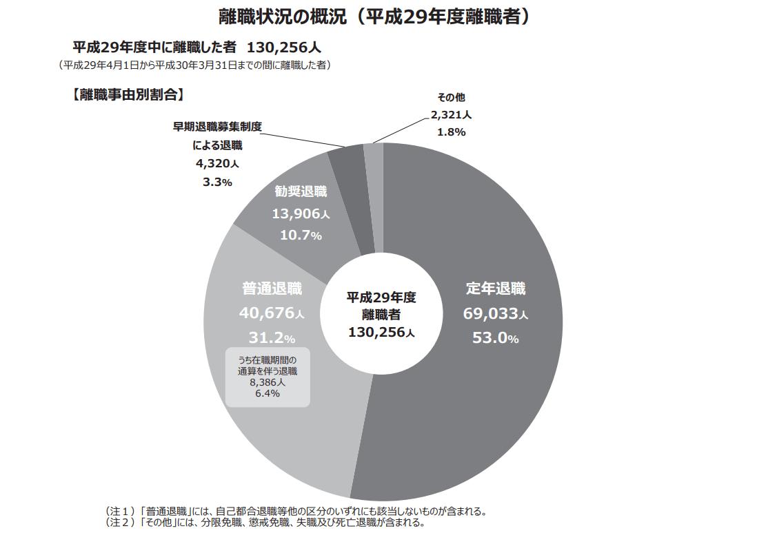 平成29年度 地方公務員の退職状況等調査
